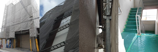 マンション1棟外装修繕過程